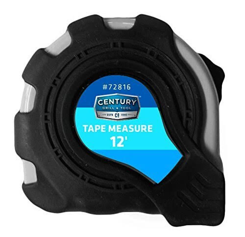 Century Drill and Tool 72816 Heavy Duty Tape Measure - 12'