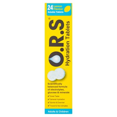 O.R.S Hydration Tablets - 24 Lemon Flavour Soluble Tablets