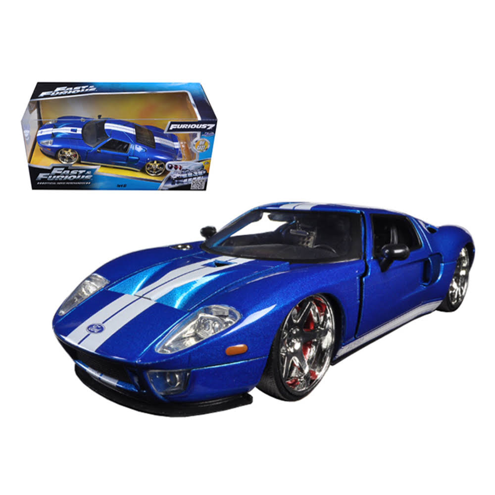 Jada Fast and Furious Ford GT Diecast Model Car - 1:24 Scale, Blue