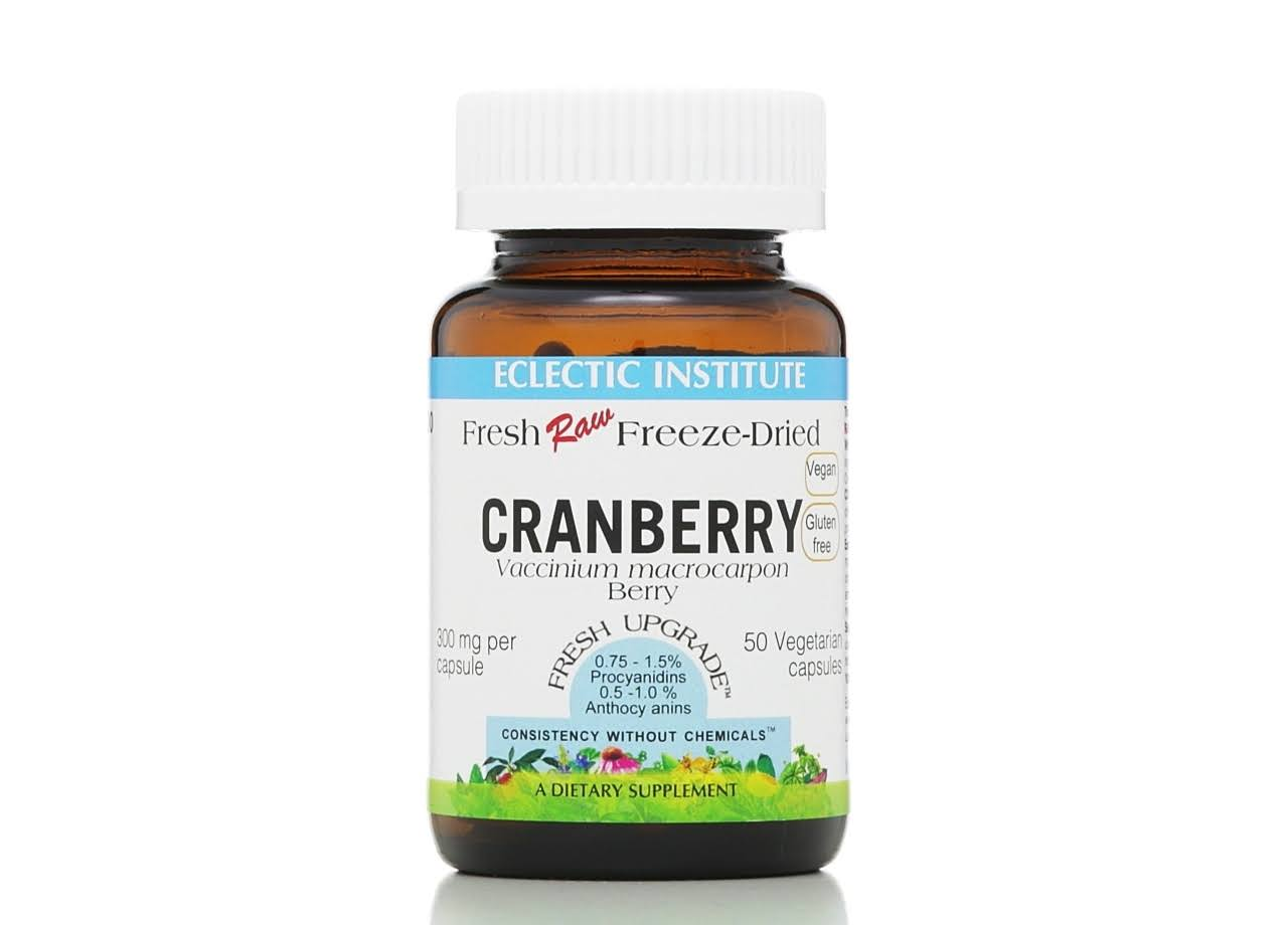 Eclectic Institute Cranberry Dietary Supplement - 50 capsules