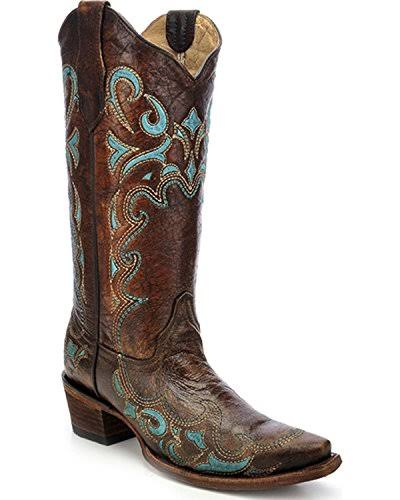 Circle G Women's Embroidered Cowgirl Boot Snip Toe - L5193, Size: 7.5, Brown