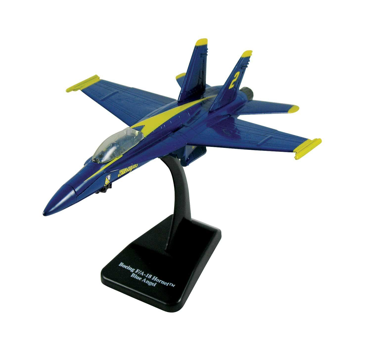 Smithsonian FA-18 Hornet Blue Angels EZ Build Model Kit - 1/72 Scale
