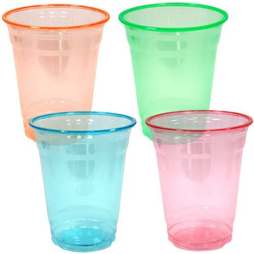 Party Dimensions Neon 40 Count Pet Plastic Cups