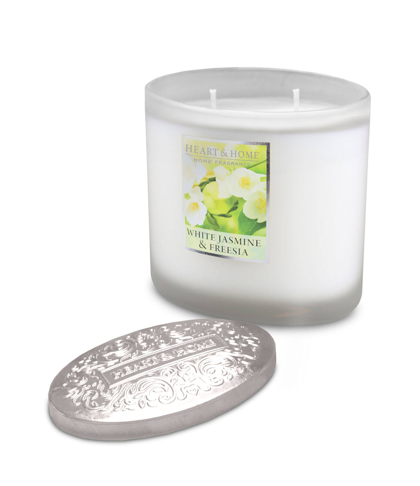 Heart & Home 2 Wick Ellipse Candle - White Jasmine and Freesia