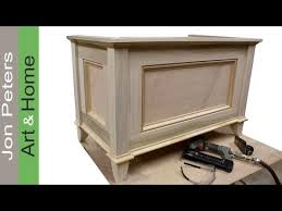 make a blanket chest toy chest by jon peters youtube