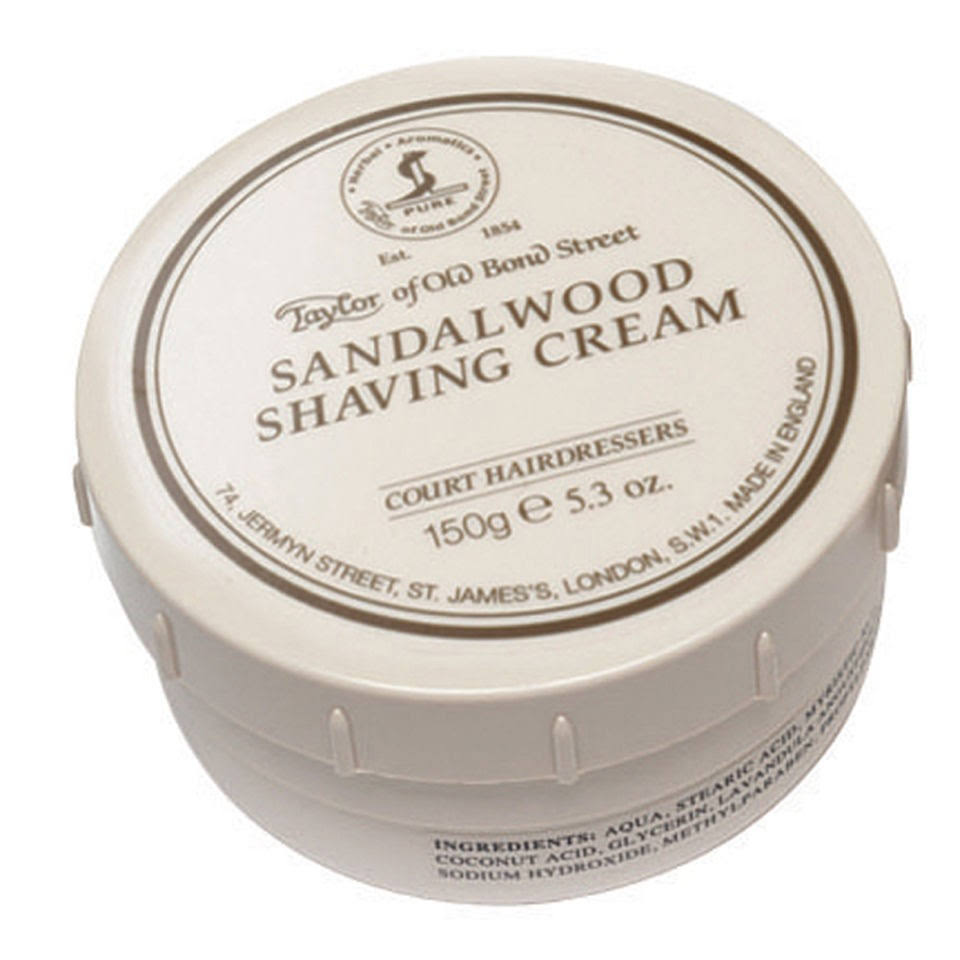Taylor of Old Bond Street Sandalwood Shaving Cream - 150g