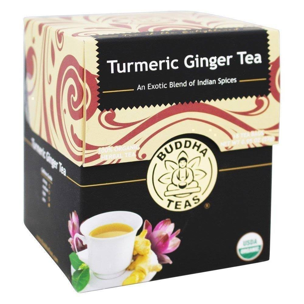 Buddha Teas Herbal Tea Tumeric - Ginger, 18pk, 1.27oz