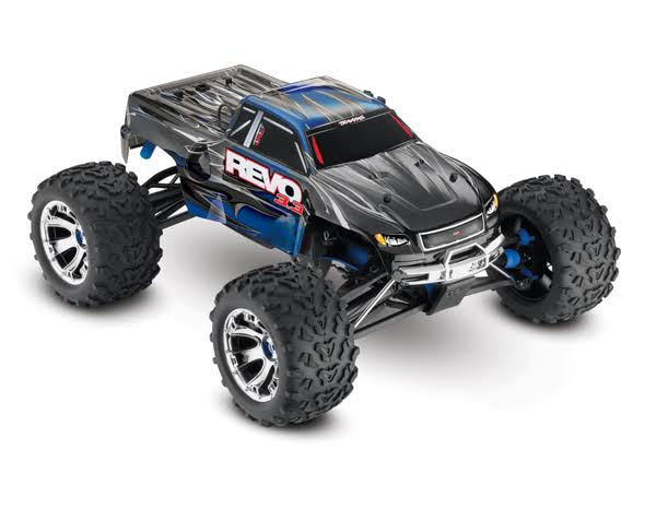 Traxxas Blue Revo 3.3: 1/10 Scale 4WD Nitro-Powered Monster Truck