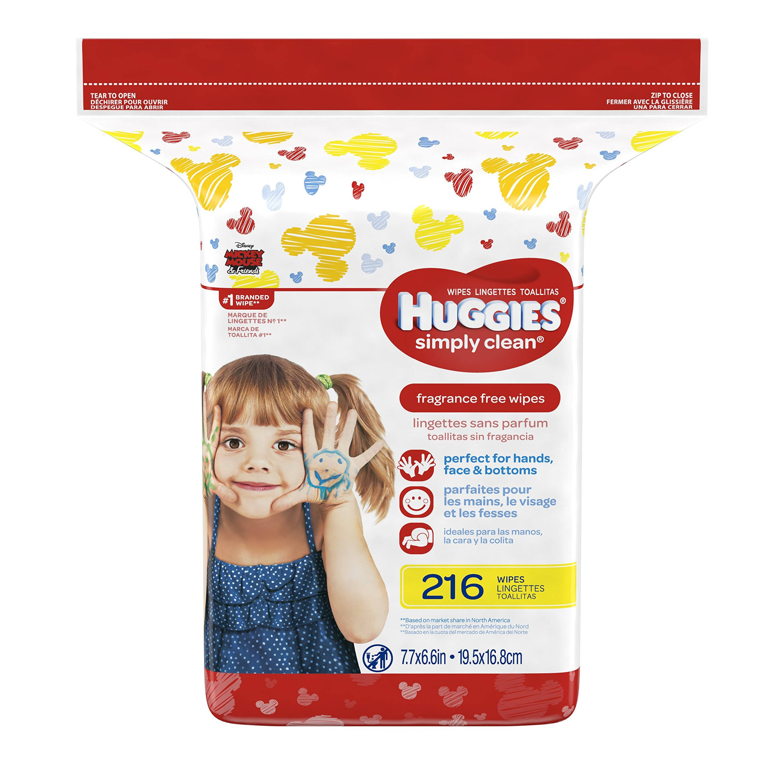 Huggies Simply Clean Fragrance-Free Baby Wipes Refill Pack - 216ct