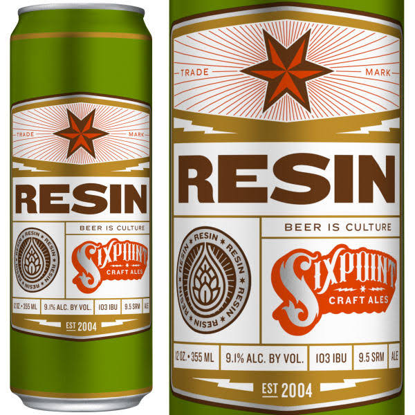 Sixpoint Beer, Resin IIPA - 6 pack, 12 fl oz cans