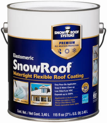 Kst Coatings Snow Roof Coating - 1Gallon