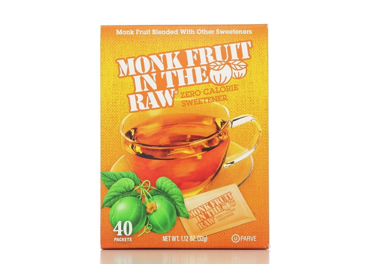 Monk Fruit In The Raw Zero Calorie Sweetener - 40pk