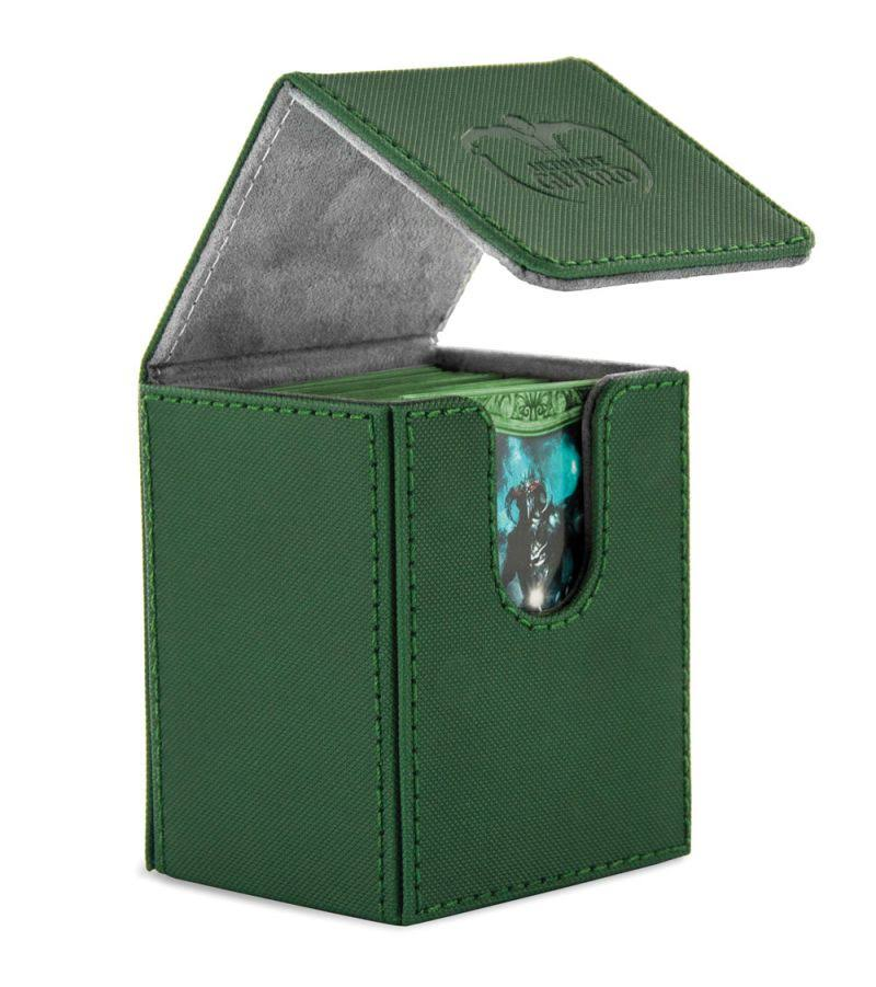 Ultimate Guard Flip Deck Case - Xenoskin Green