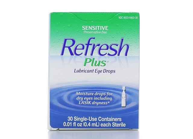 Refresh Plus Moisturizing Relief Lubricant Eye Drops Single Use Containers - 30 Pack