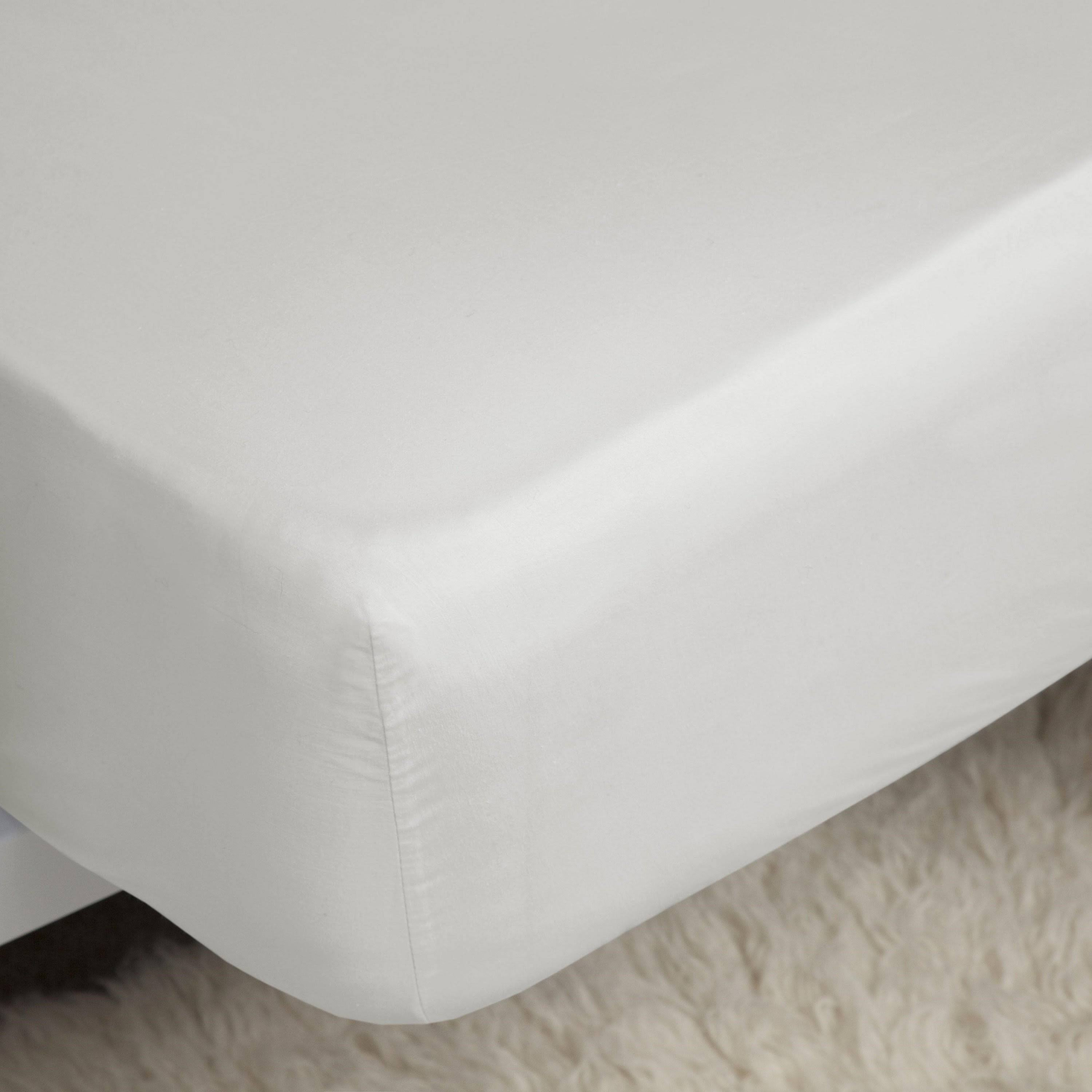 Belledorm 200 Count Extra Deep Fitted Sheet - Ivory - Double