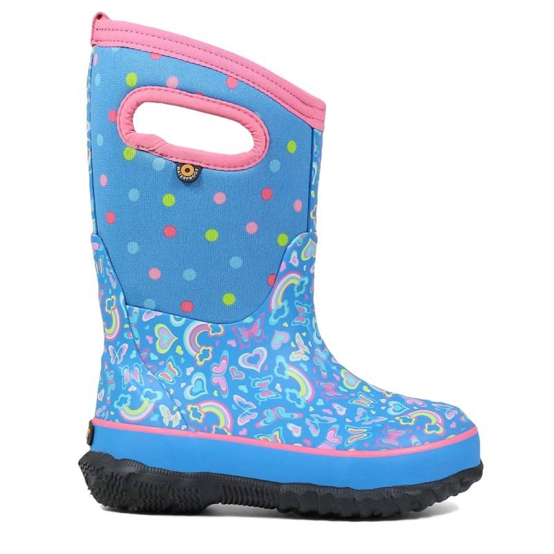 Bogs Kids' Classic Rainbow Boot - 13 - Light Blue Multi