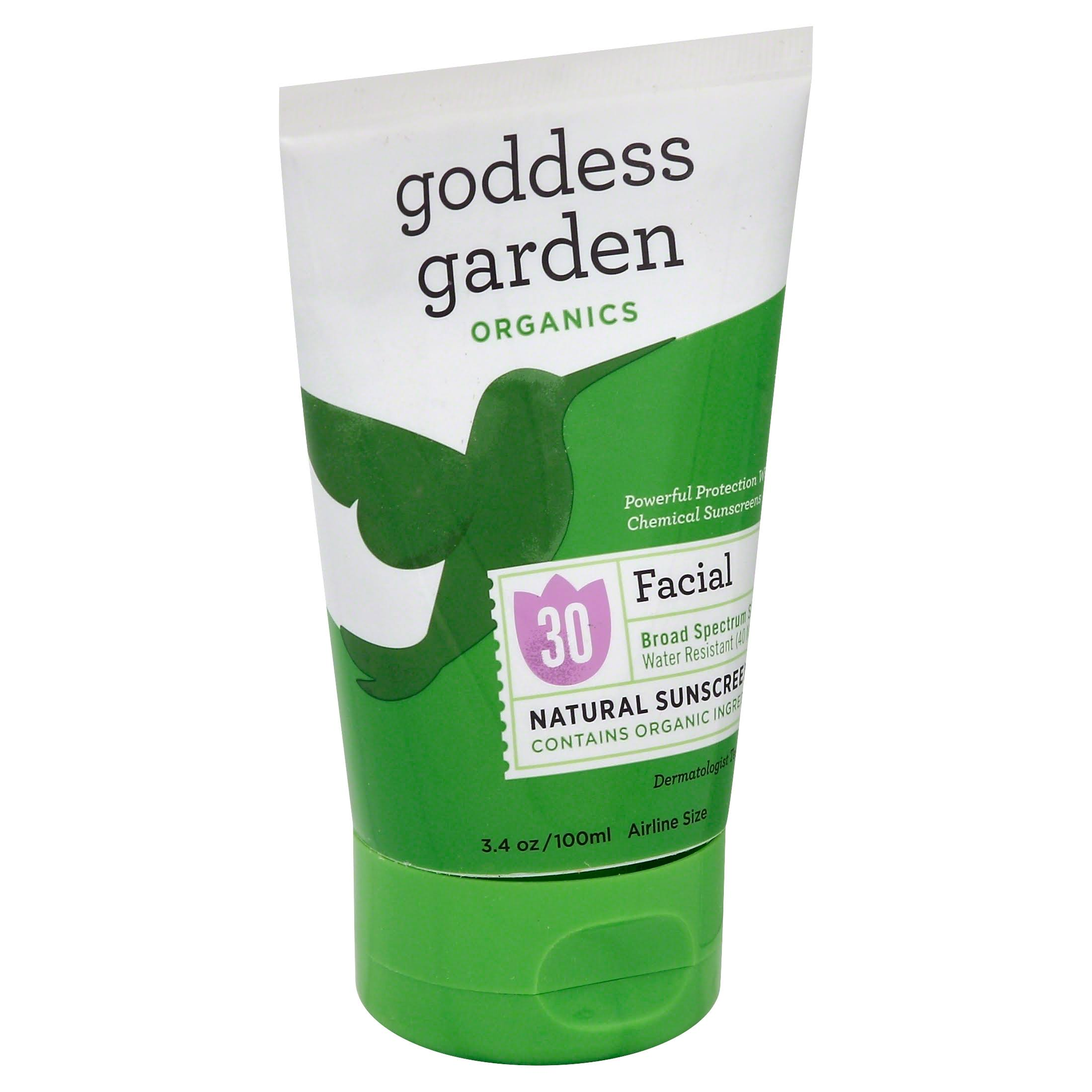 Goddess Garden Sunny Face Natural Sunscreen - SPF 30, 3.4oz