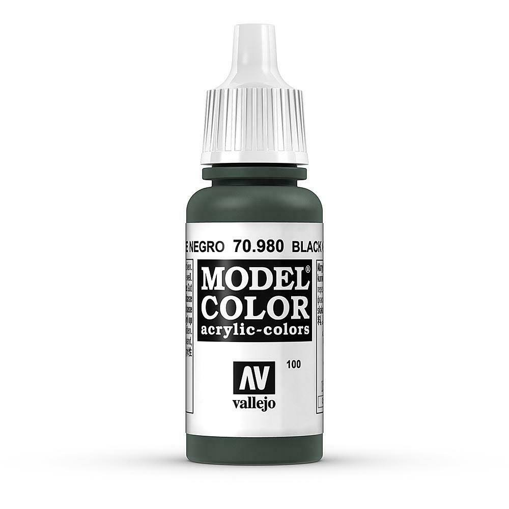 Vallejo Model Color Acrylic Paint - Black Green, 17ml