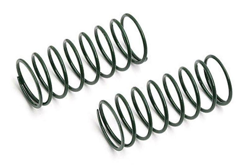 Associated Rc Model Parts Buggy Front Short Springs - Green, 2pc