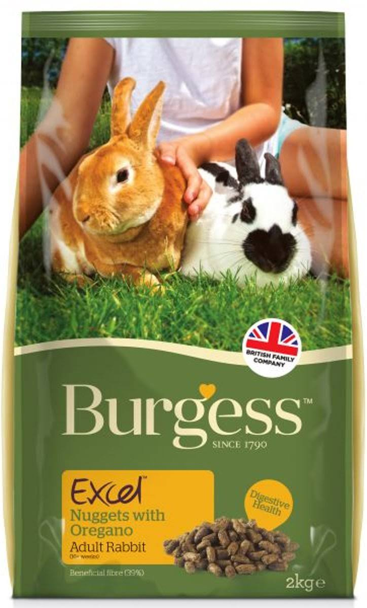 Excel Tasty Nuggets with Oregano For Adult Rabbits Food