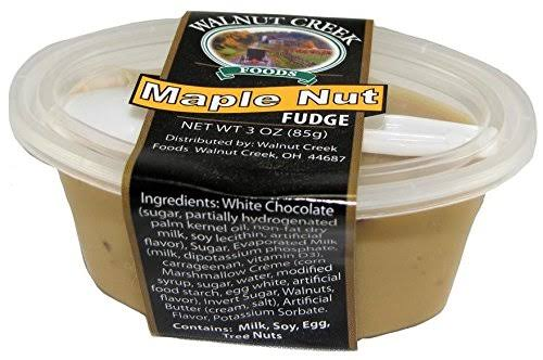Amish Fudge Cup Maple Nut 3oz with Spoon