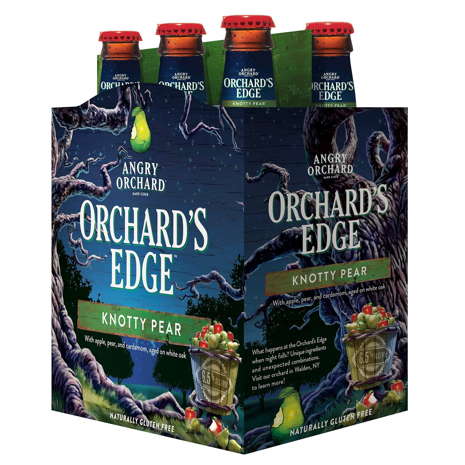Angry Orchard Knotty Pear Cider - 6 pack, 12 fl oz bottles