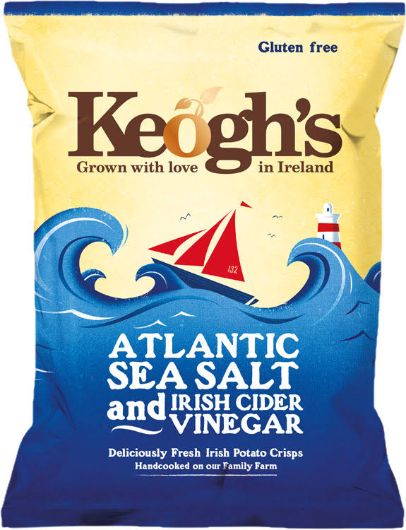 Keogh's Atlantic Sea Salt and Irish Cider Vinegar Potato Chips - 50g