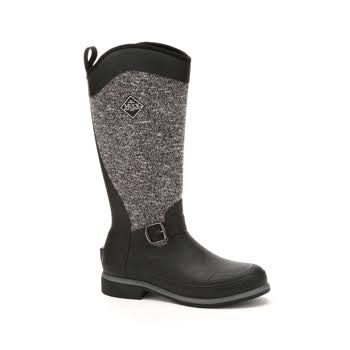 Muck Boots Women's Reign Supreme Winter Boots - Black & Gray, 9 US