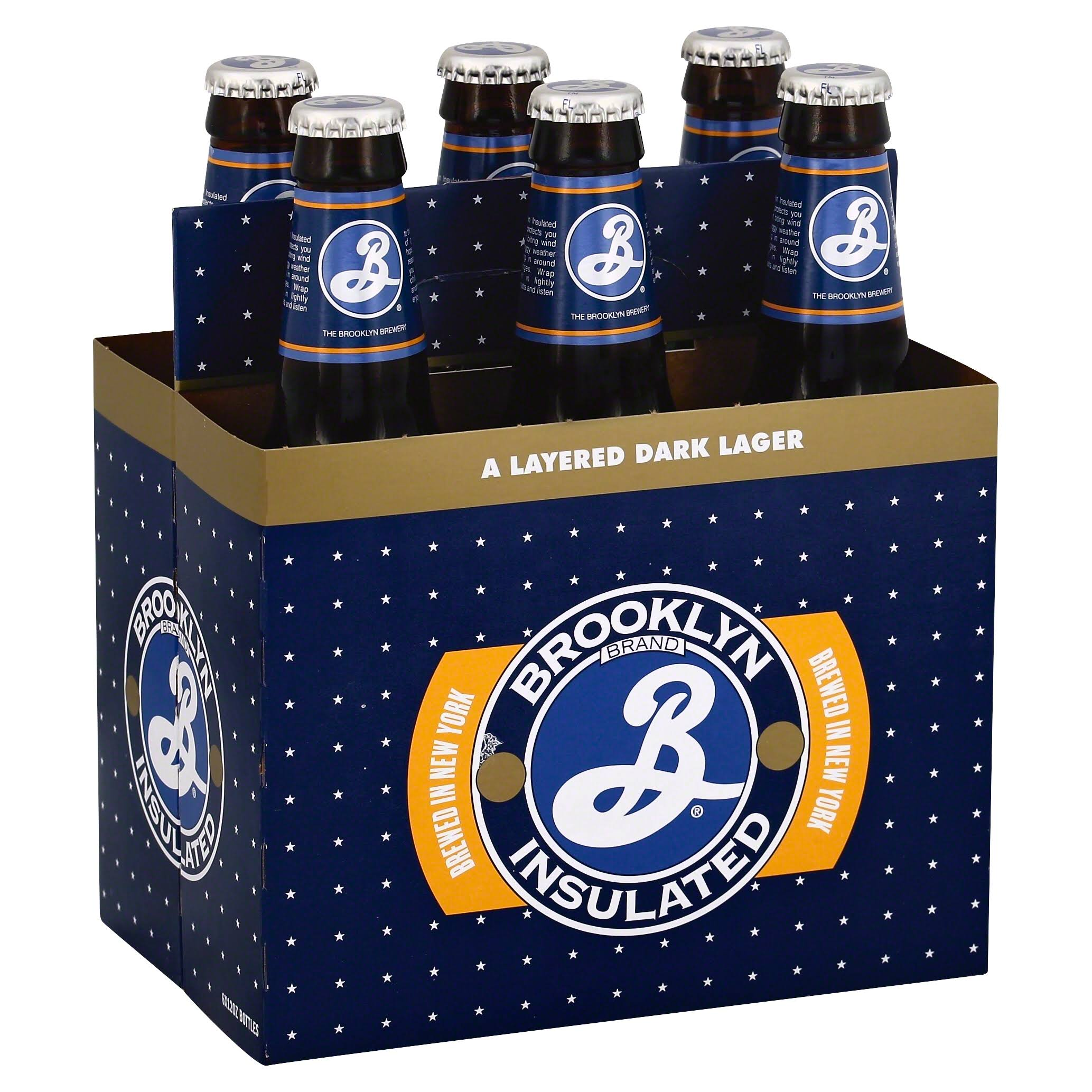 Brooklyn Brewery Lager, Dark, Insulated - 6 pack, 12 oz bottles