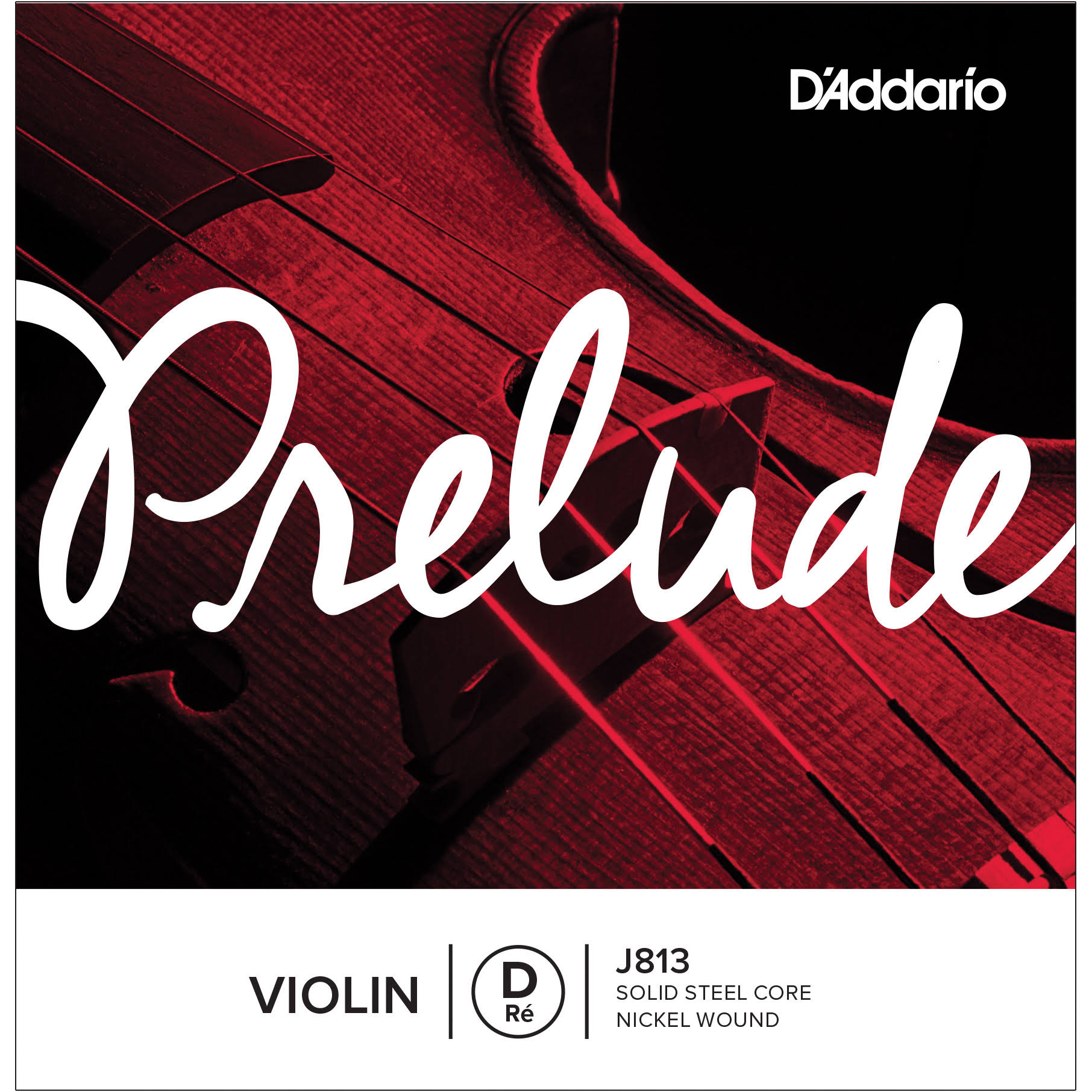 D'Addario Prelude Violin Single D String - Medium Tension