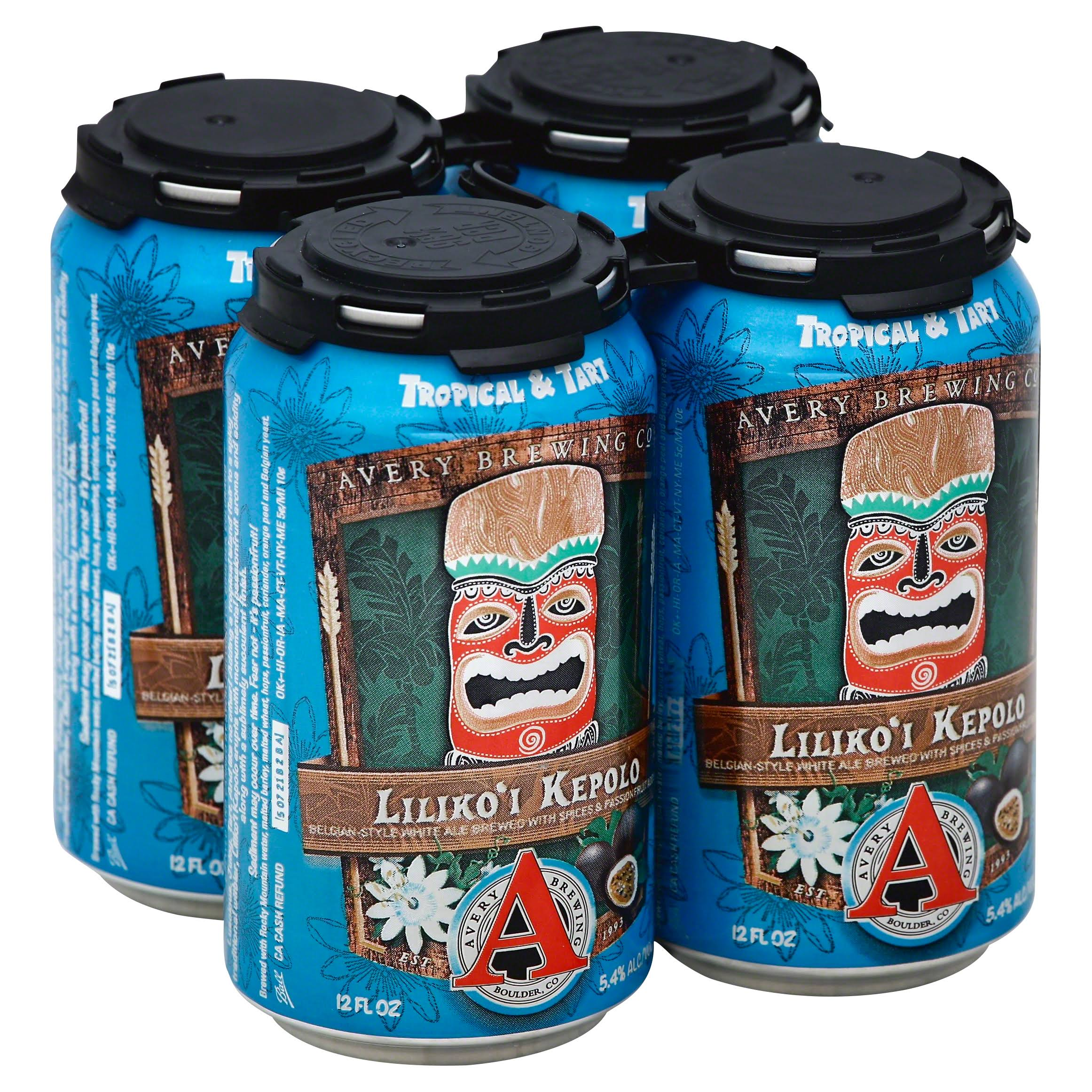 Avery Brewing Ale, Liliko'i Kepolo - 6 pack, 12 fl oz cans
