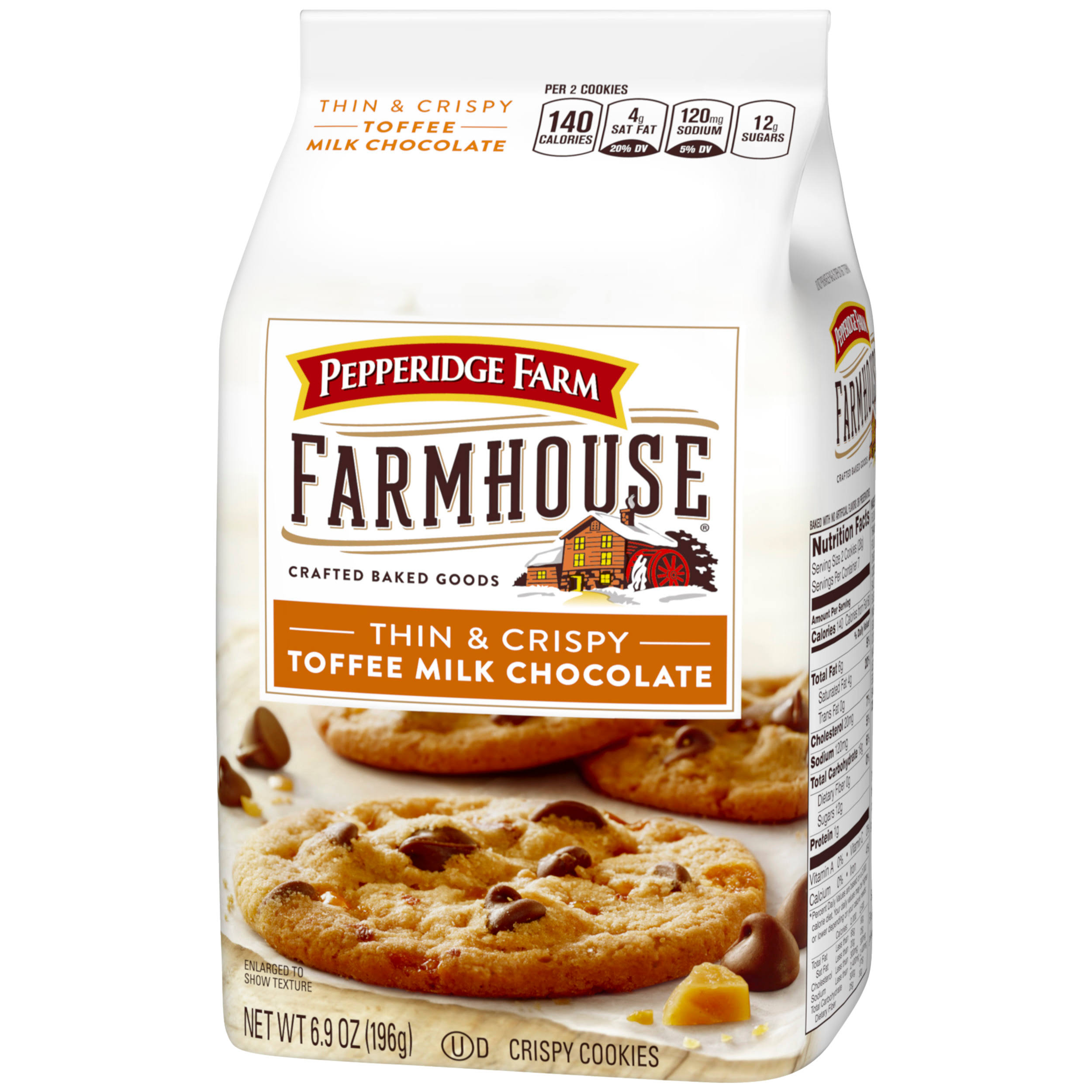 Pepperidge Farm Cookies, Thin & Crispy, Toffee Milk Chocolate - 6.9 oz