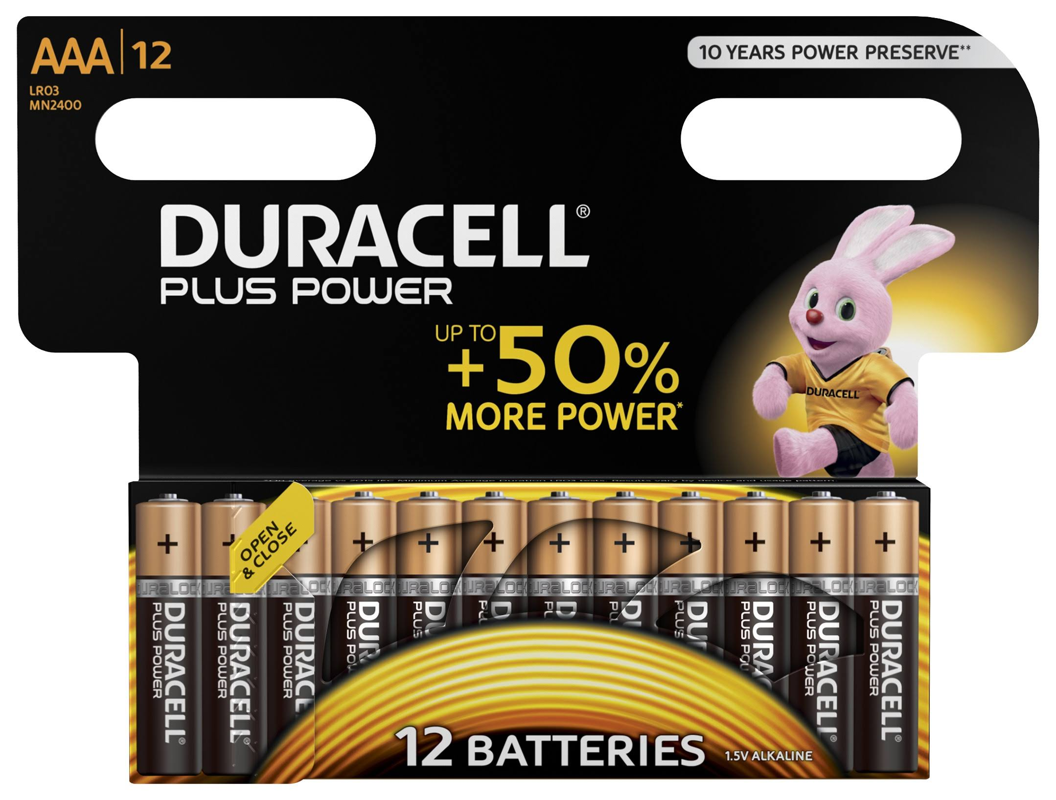Duracell Plus Power Alkaline AAA Batteries - 12pk