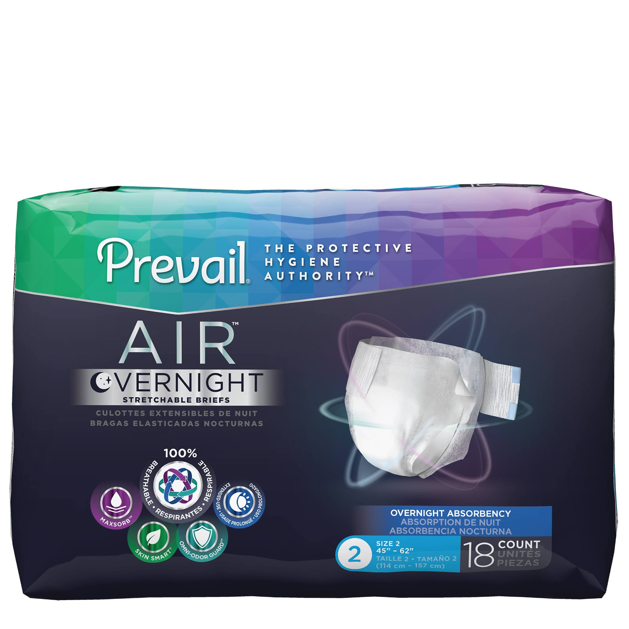 Prevail Air Overnight Brief - Size 2/Large, Size: 2-45