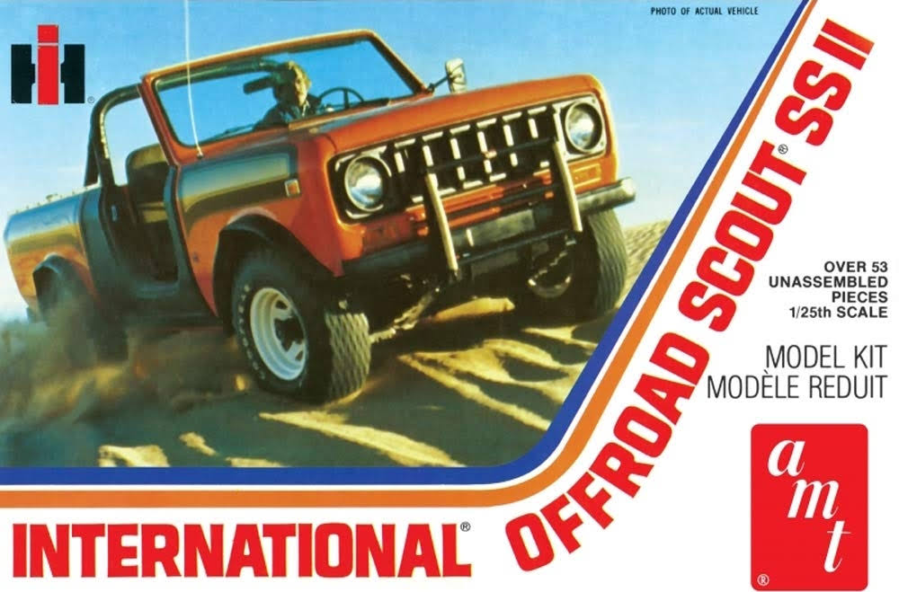 AMT International Scout II Model Car Truck Kit - 1/25 Scale