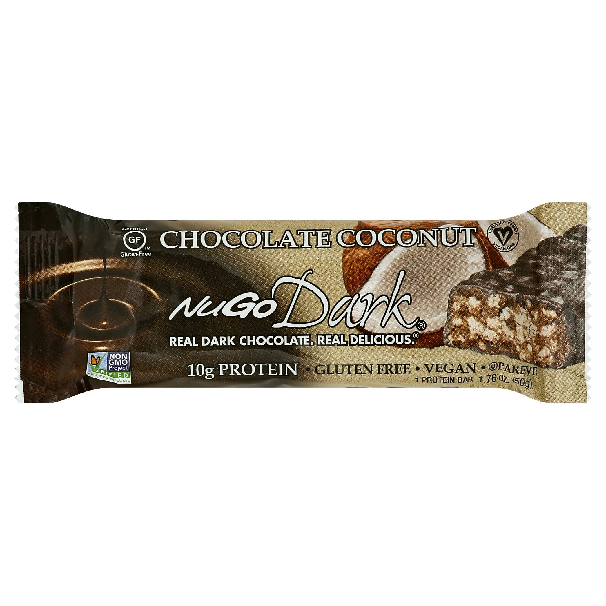 NuGo Dark Chocolate Coconut Nutrition Bar - 1.76oz