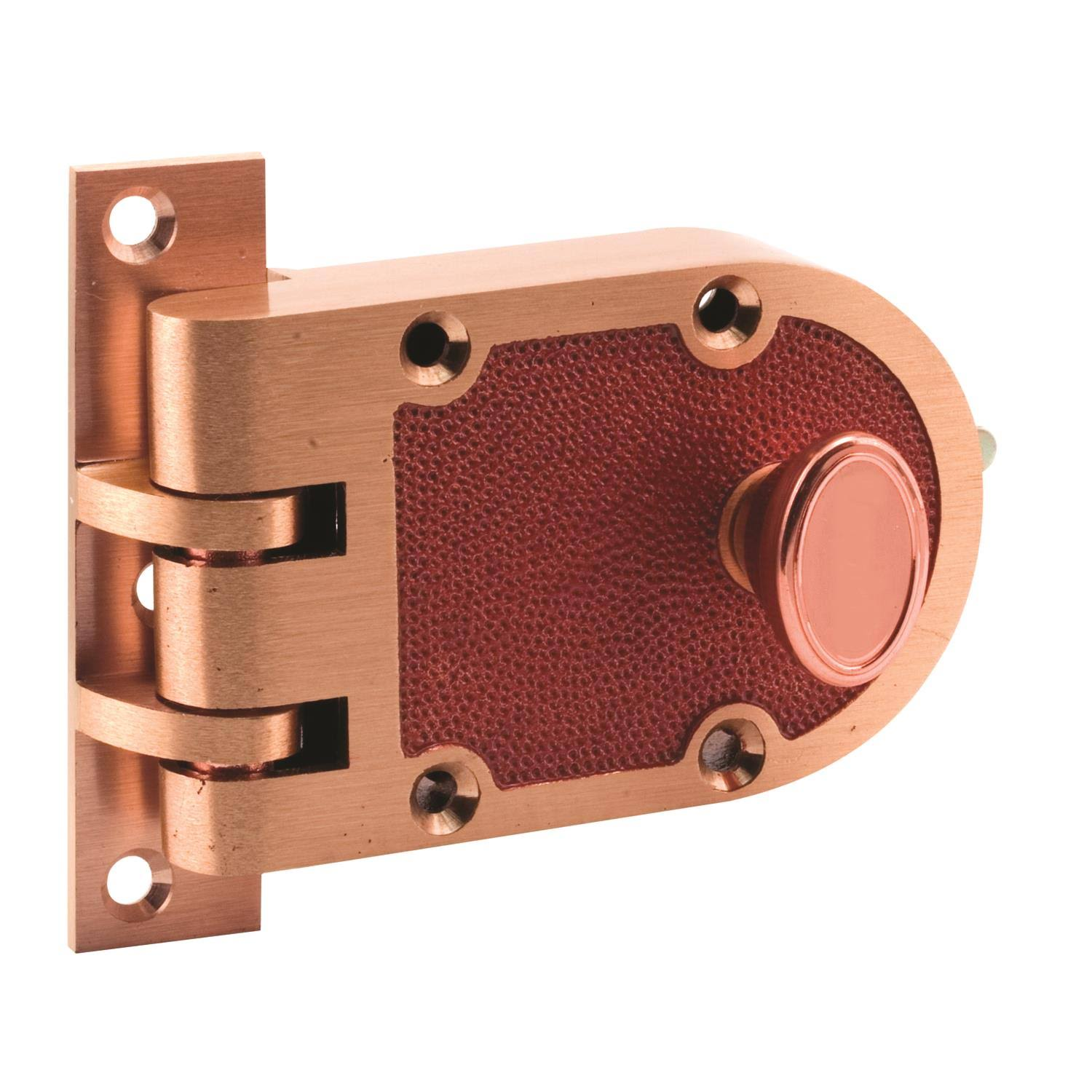 Prime-Line Single Cylinder Bronze Jimmy-Resistant Deadlatch