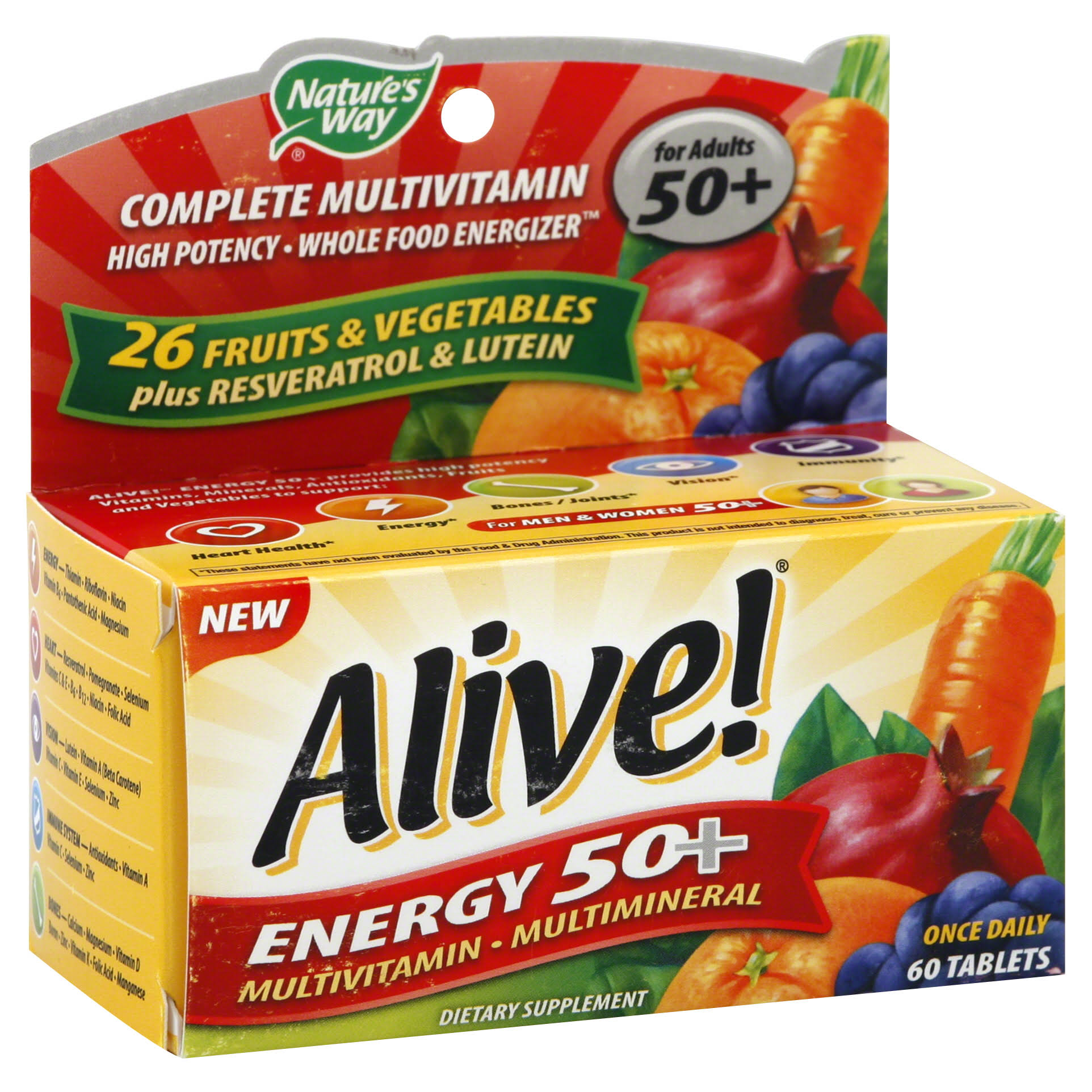 Nature's Way Alive Energy 50 Multivitamin - 60 Tablets