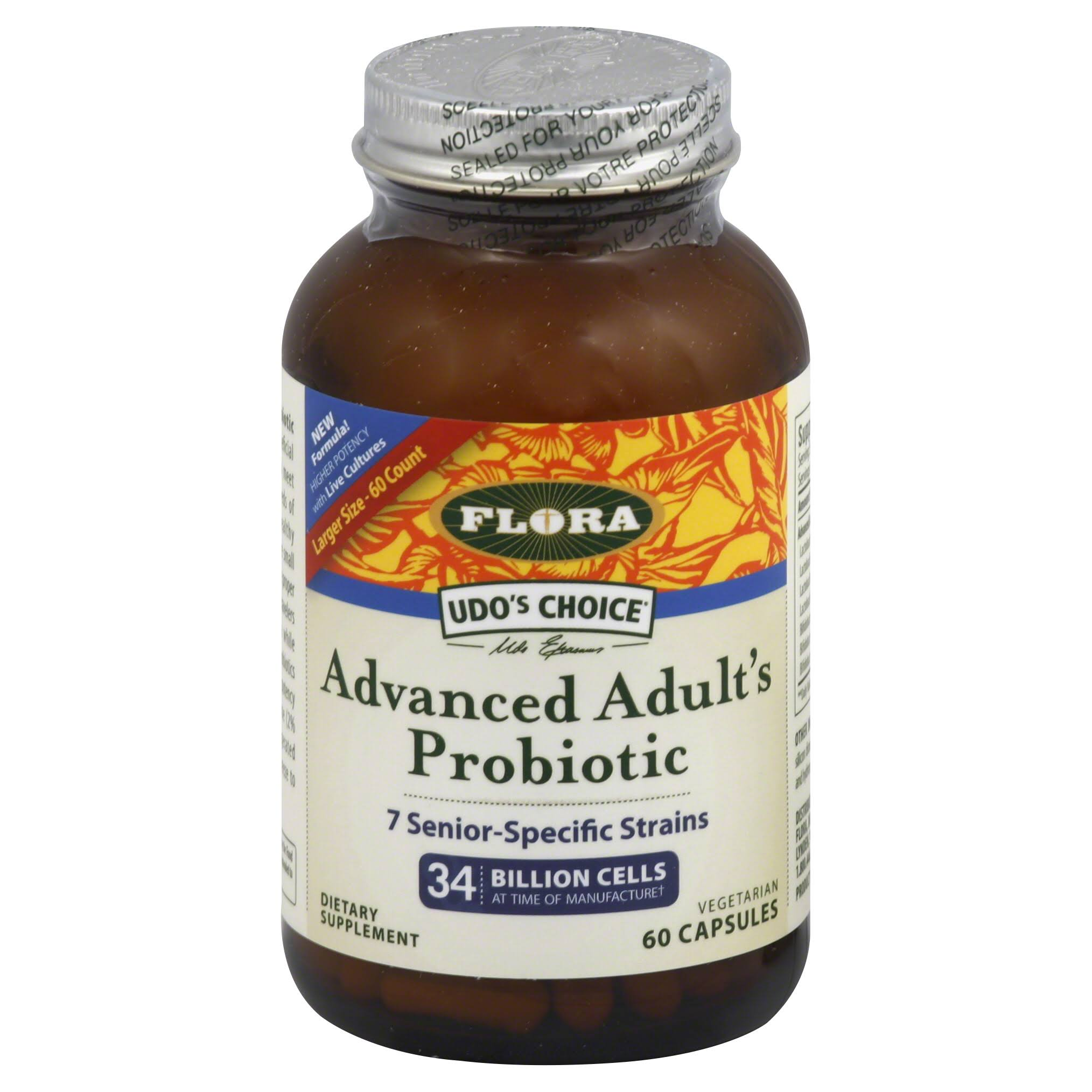 Udo's Choice Advanced Adult's Probiotic Dietary Supplement - 60 Capsules