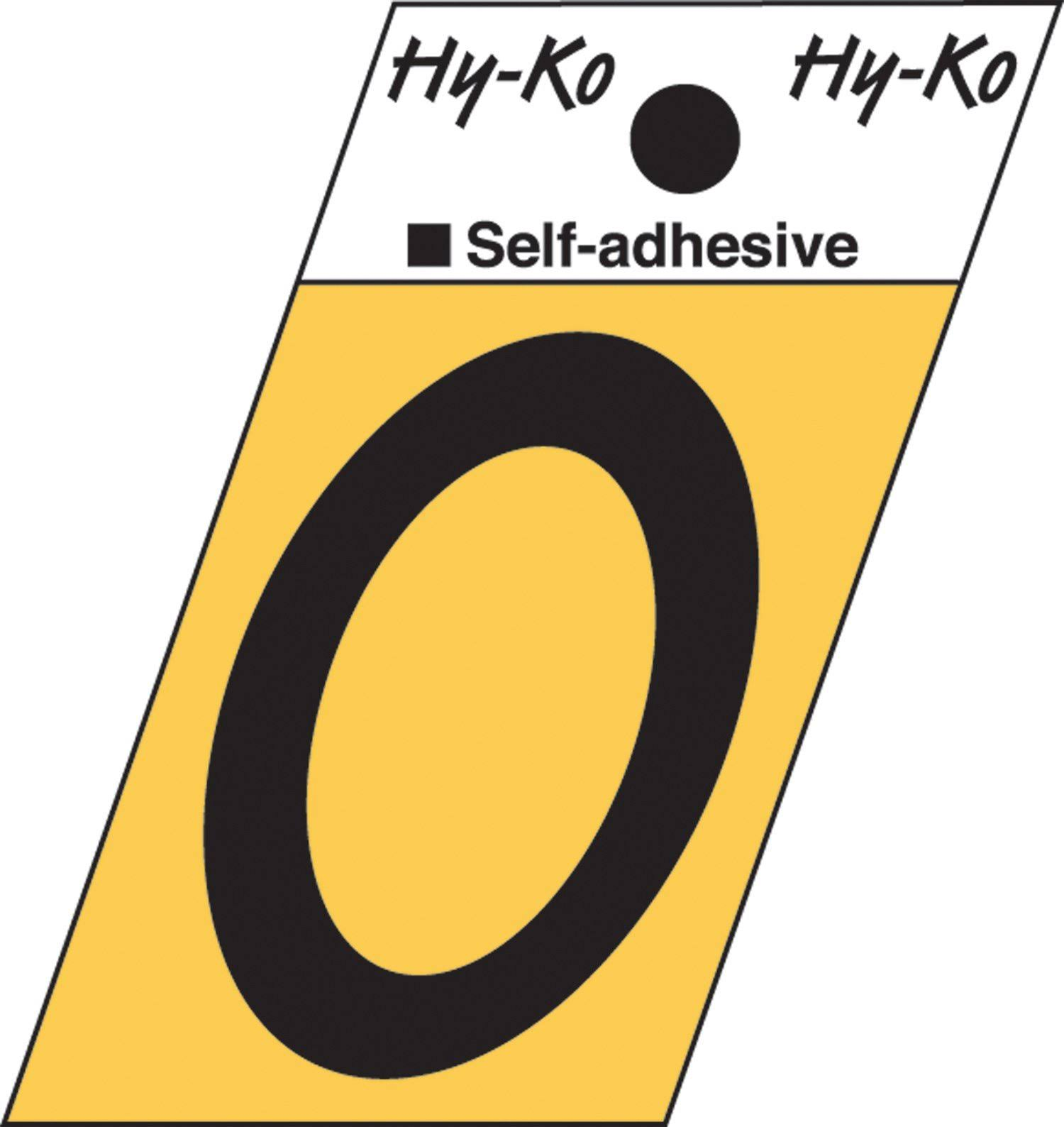 Hy-Ko Self-Adhesive Aluminum Letter Set, Black