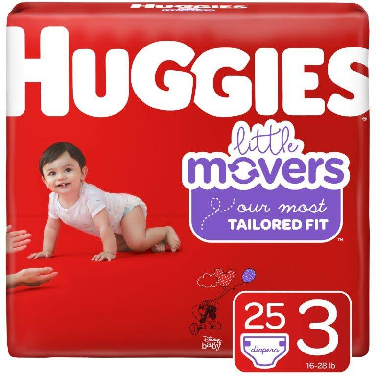 Huggies Little Movers Diapers, Disney Baby, 3 (16-28 lb) - 25 diapers