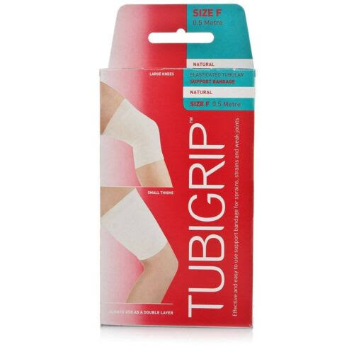 Tubigrip Elasticated Tubular Support Bandage - Size F, 0.5m