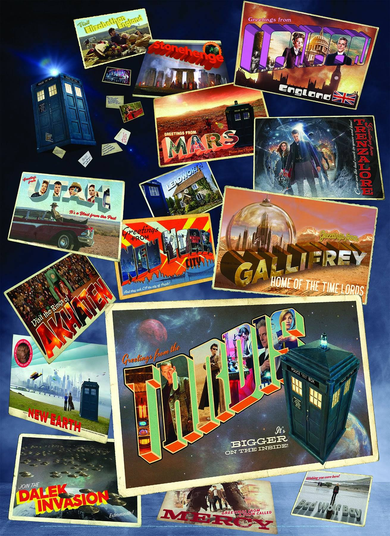 Doctor Who: Postcards from the Edge of Space and Time Jigsaw Puzzle - 1000pcs