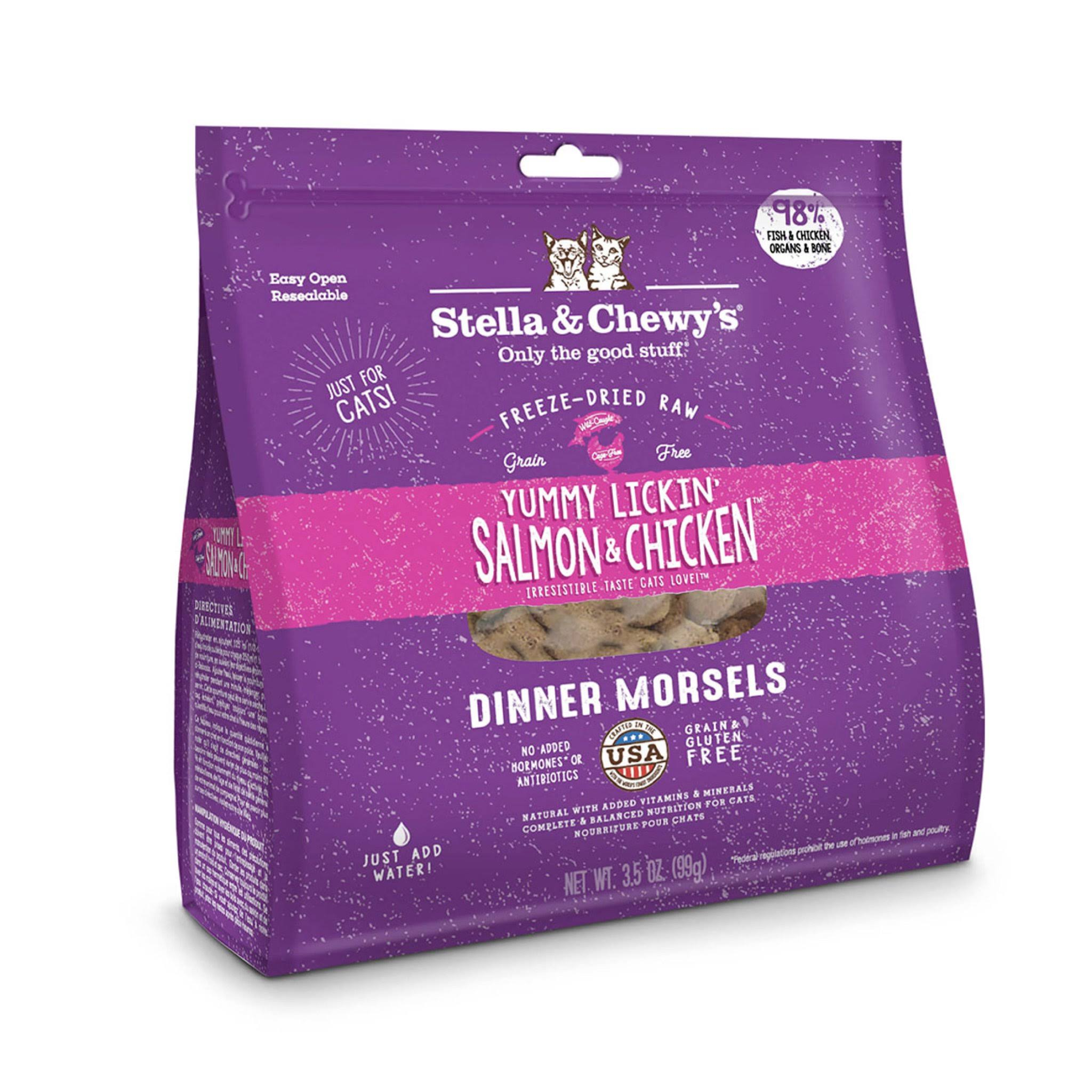 Stella & Chewy's Freeze-Dried Adult Cat Food - Yummy Lickin' Salmon & Chicken, 9oz