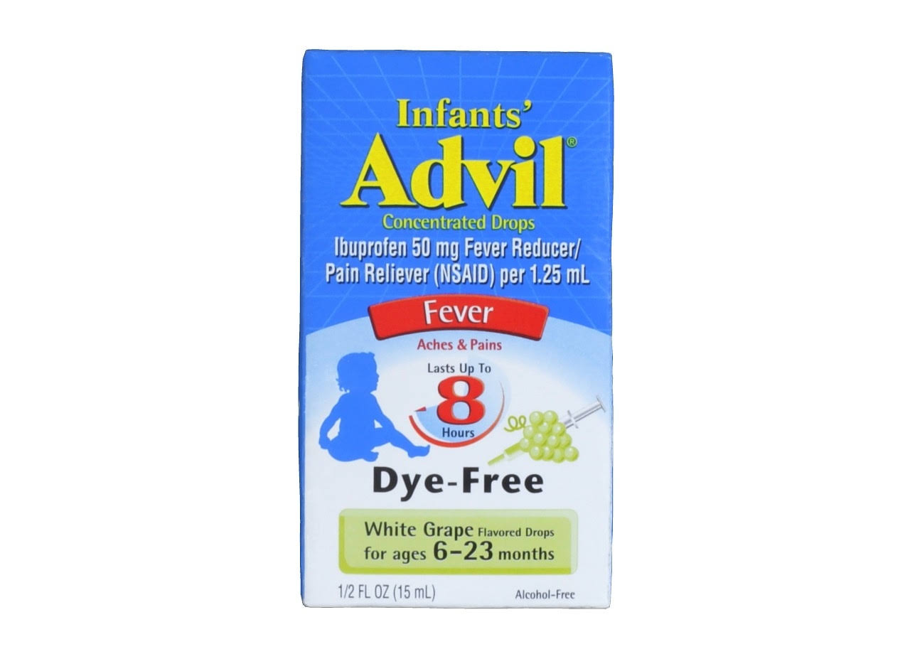 Advil Infant's Fever Reducer - White Grape, 50mg