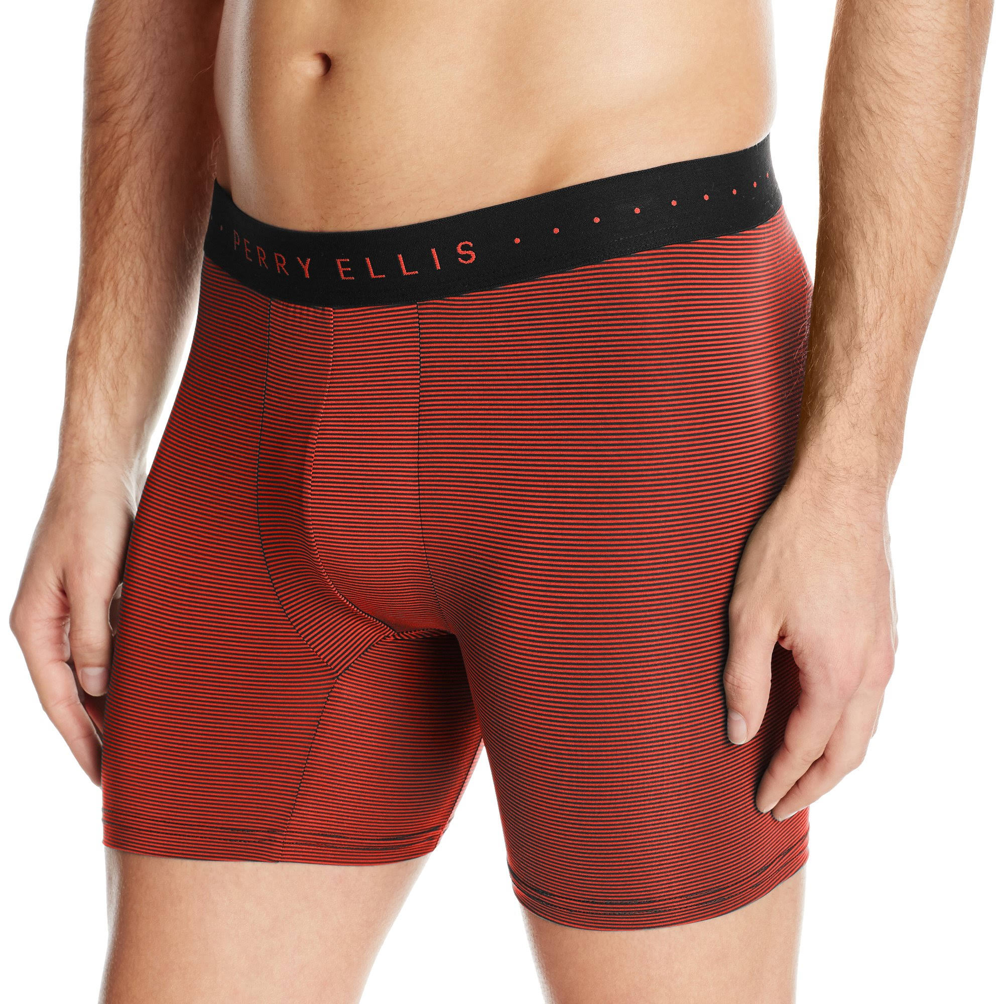 Perry Ellis Men's Stripe Boxer Brief