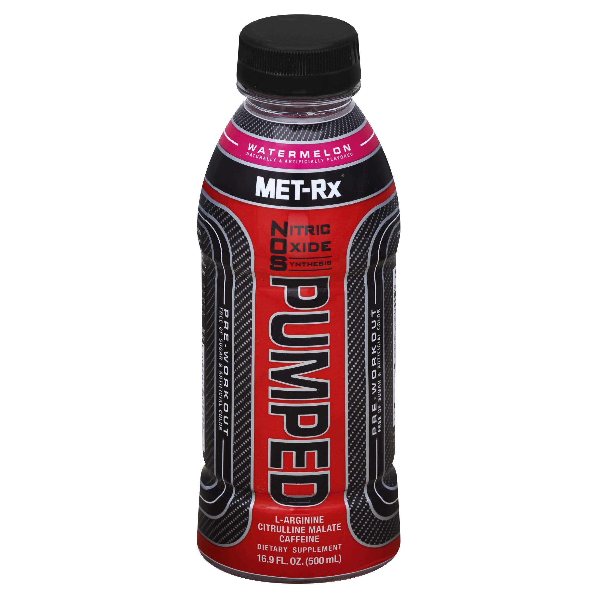 Met-rx NOS Pumped Pre-Workout Energy Drink - Watermelon, 16.9oz, 12 Count