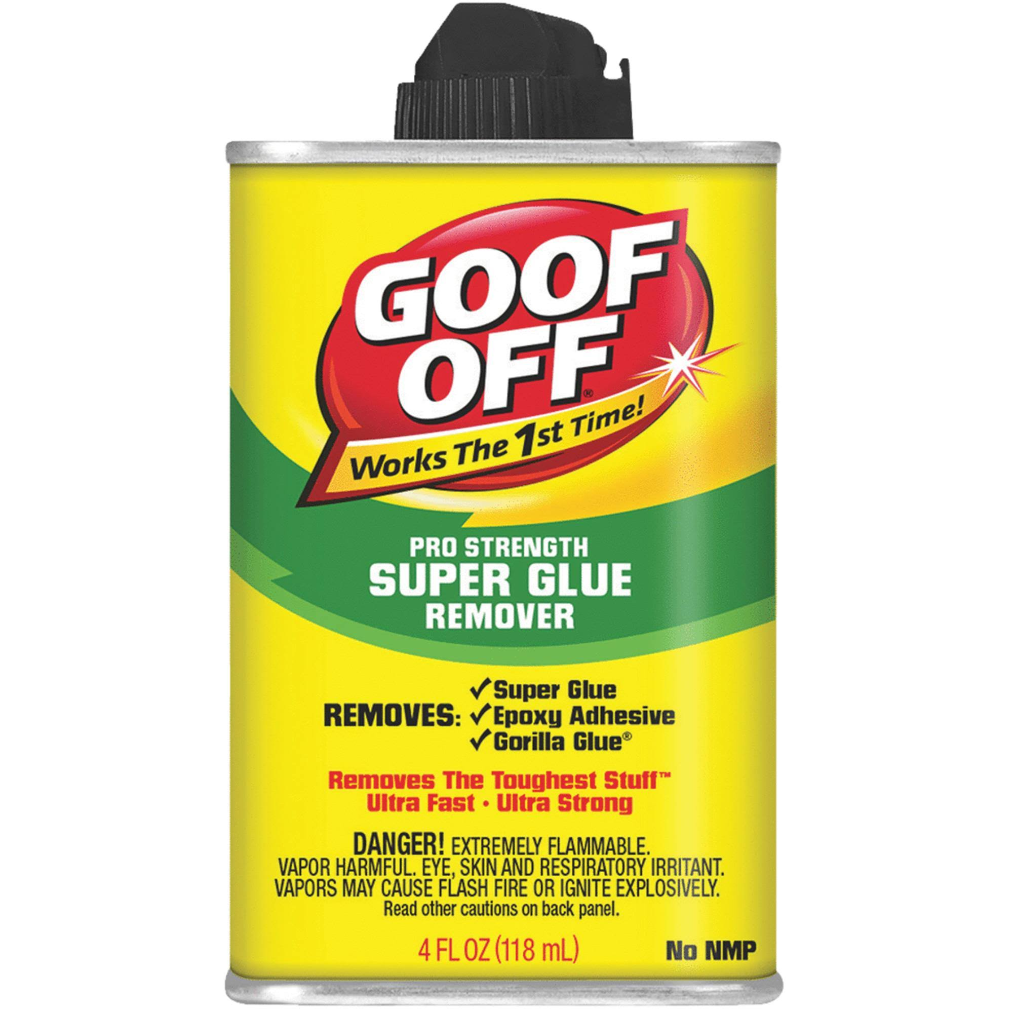 Goof Off Pro Strength 4 oz Super Glue Remover FG678