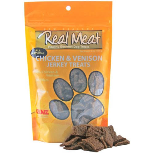 The Real Meat Company Dog Jerky Treats - Chicken and Venison, 4oz