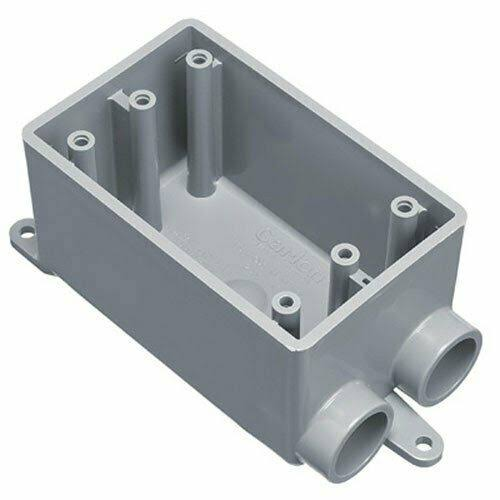 Thomas and Betts Outlet Box - 1 gang, 1/2""